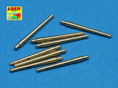 Пластиковая модель для сборки Set of 8 pcs 356mm (14in) L45 Vickers type 41 barrels for Kongo, Haruna, Hiei, Kirishim