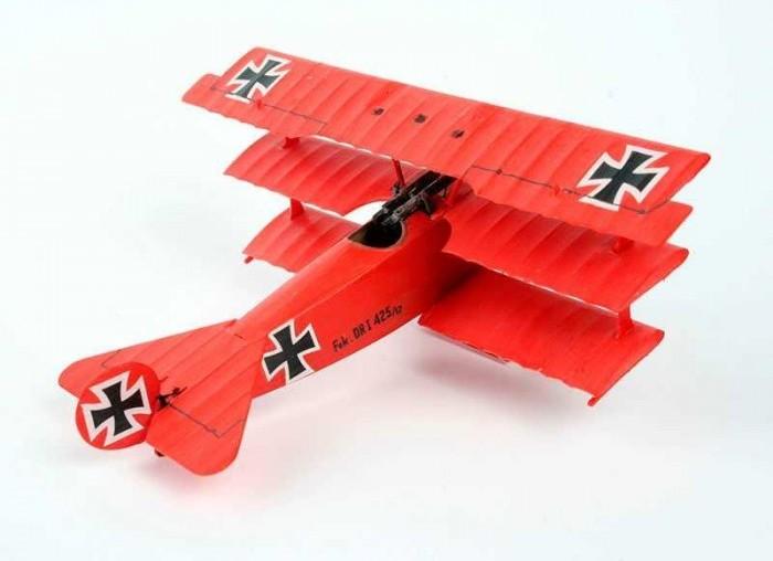 Подарочный набор Истребитель Fokker DR.1 Triplane ( 8 см  )