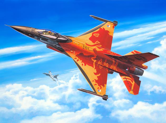 Истребитель F-16 Mlu Solo Display Klu Revell 03980
