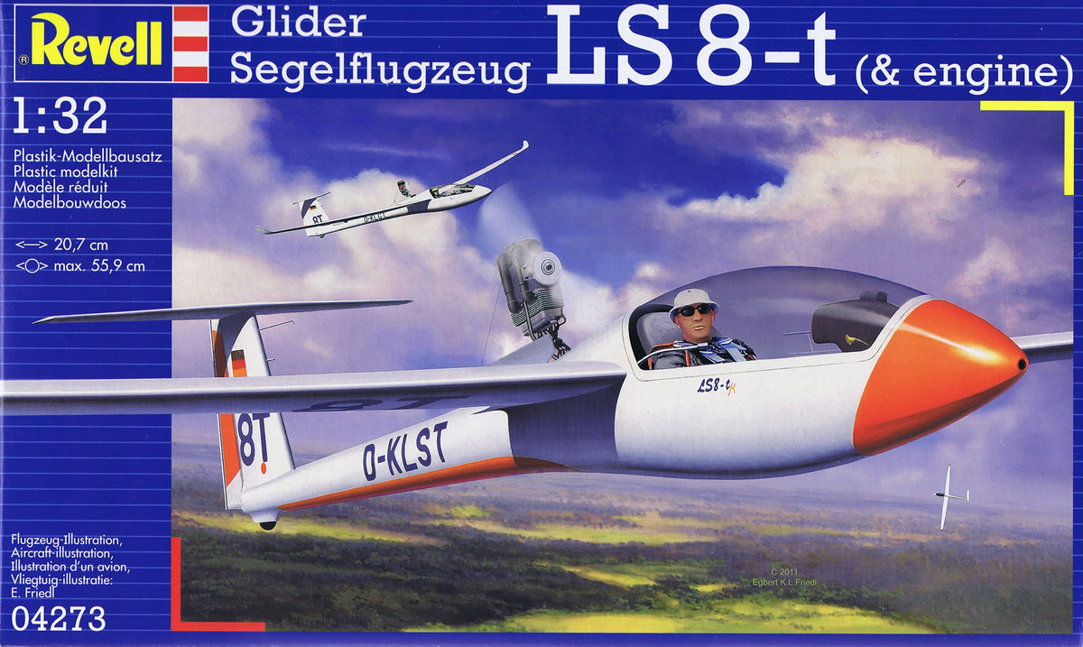 Самолет Glider LS-8t Revell 04273