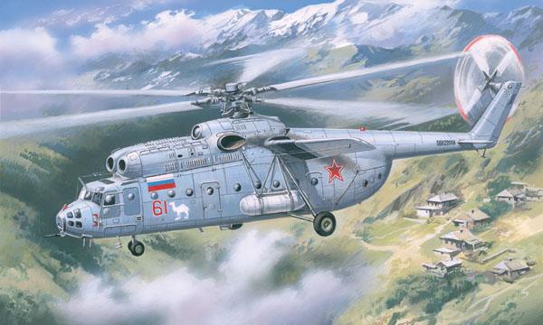 Советский вертолет Ми-6, поздняя модификация Amodel 72131