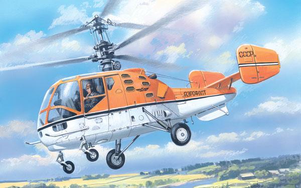 Многоцелевой двухместный вертолет Ка-15М Amodel 7256