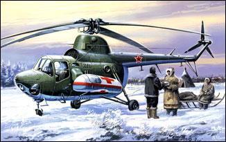 Санитарный вертолет Ми-3 Amodel 7297