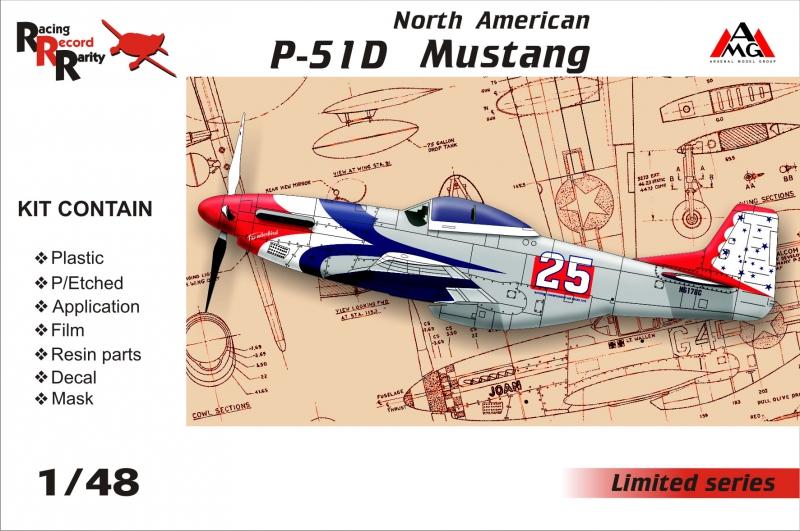 Истребитель P-51D Mustang Amg Models 48501
