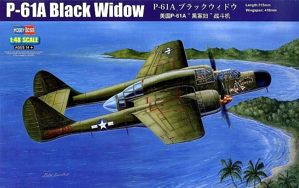 Истребитель P-61A Black Widow Hobby Boss 81730