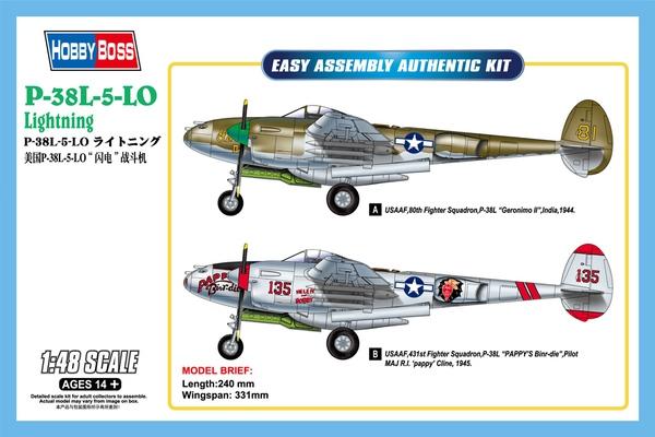 Истребитель P-38L-5-L0 Lightning Hobby Boss 85805