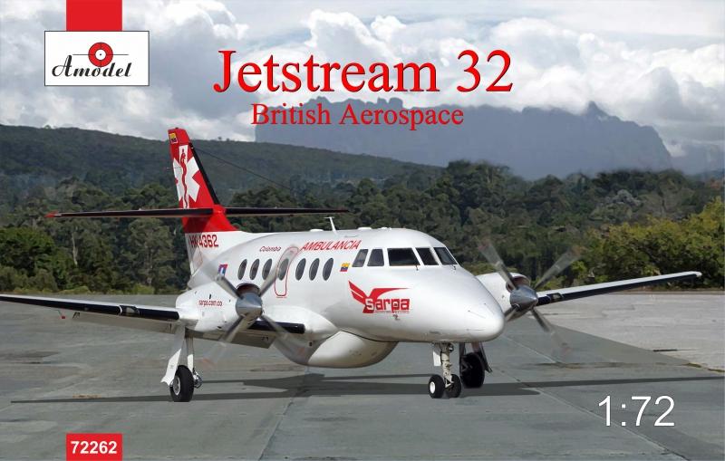 Пассажирский самолет Jetstream 32 British airliner Amodel 72262