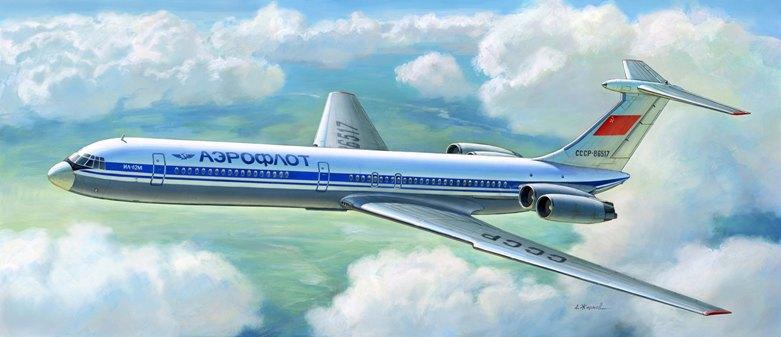 Советский пассажирский авиалайнер Ил-62М Звезда 7013
