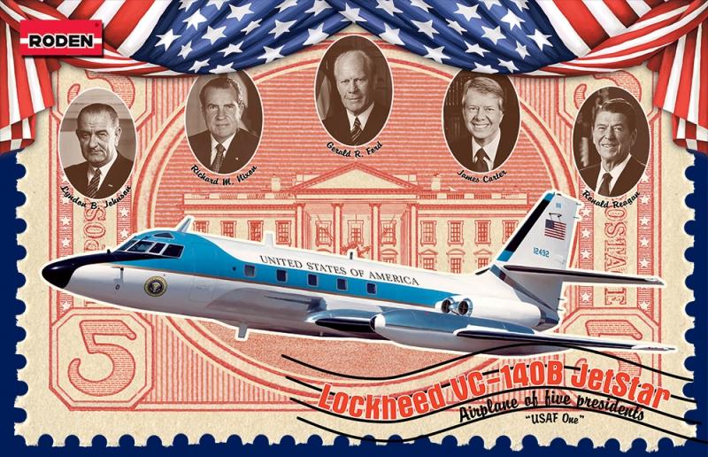 Самолет Lockheed VC-140B Jetstar Roden 324