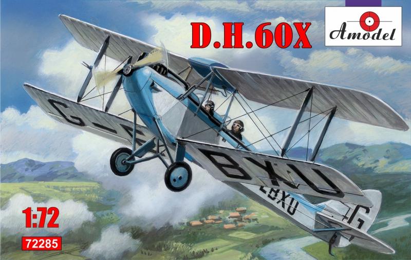 Биплан de Havilland DH.60C Cirrus Moth Amodel 72285