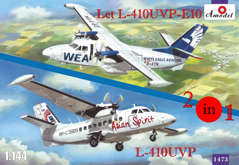 Самолеты Let L-410UVP-E10 и L-410UVP (2 модели в комплекте) Amodel 1473