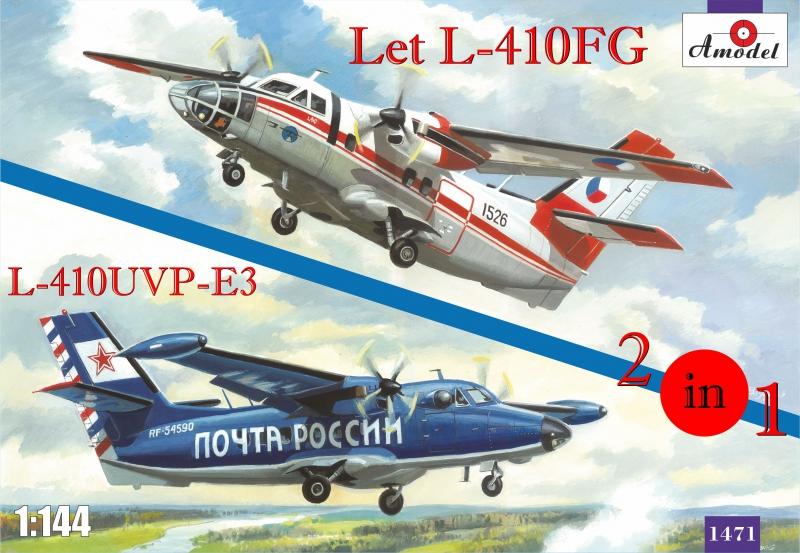 Самолеты Let L-410FG и L-410UVP-E3 (2 модели в комплекте) Amodel 1471