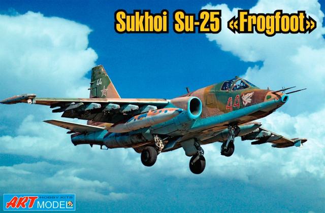 Советский бронированный штурмовик Сухой Су-25 Art Model 7215