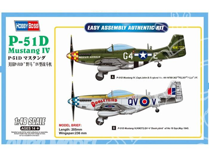 Истребитель P-51D Mustang IV Hobby Boss 85802