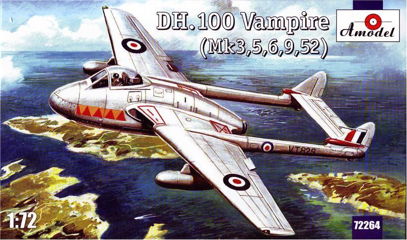 Английский реактивный истребитель DH.100 Vampire Amodel 72264