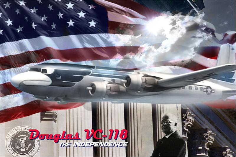 Транспортный самолет Дуглас  VC-118 The Independence Roden 307