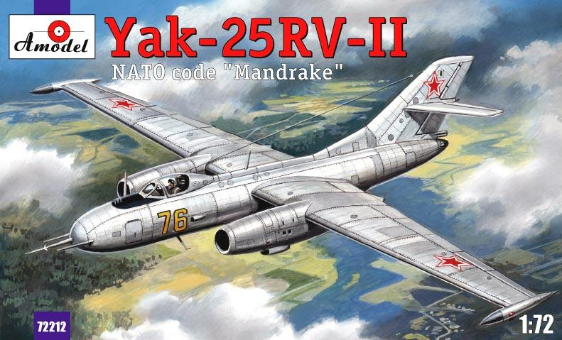 Пластиковая модель истребителя-перехватчика Як-25РВ-II Amodel 72212