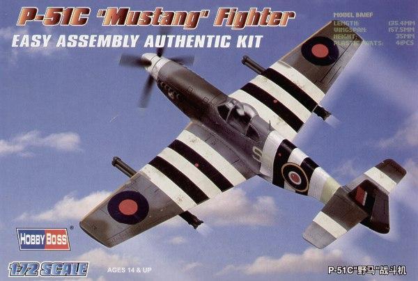 Истребитель P-51C Mustang (13,5 см) Hobby Boss 80243