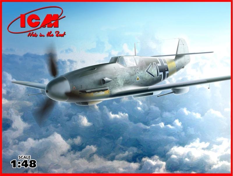 Немецкий истребитель Messerschmitt Bf-109 F4/R6 ICM 48107