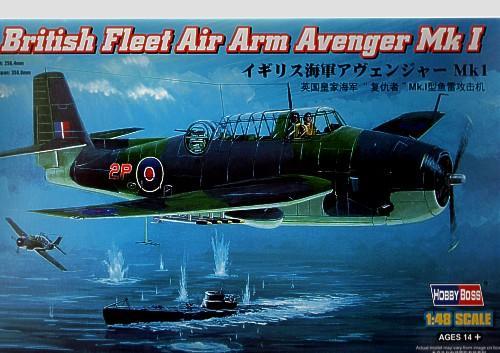 Британский бомбардировщик Avenger Mk 1 Hobby Boss 80331