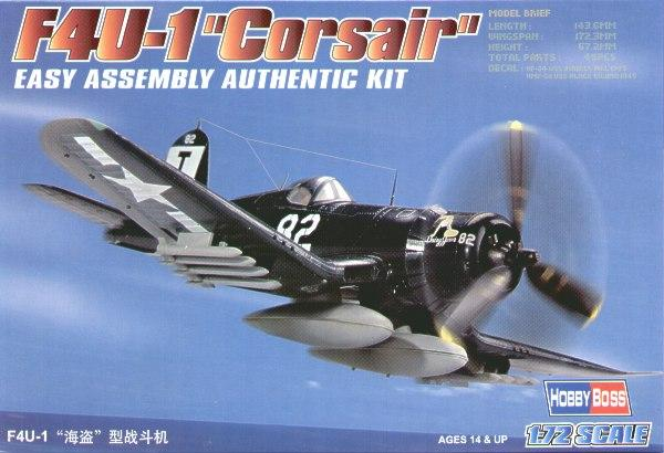 Истребитель F4U-1 Corsair (14,3 см) Hobby Boss 80217