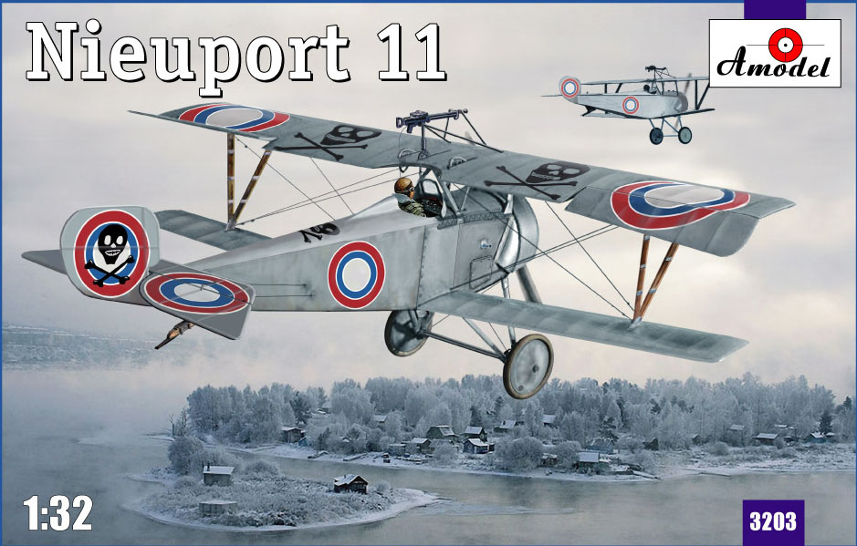 Биплан Nieuport 11 Amodel 3203