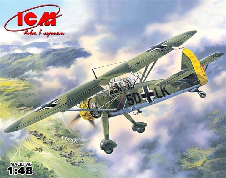 Немецкий самолет-разведчик Hs 126A-1 ICM 48211