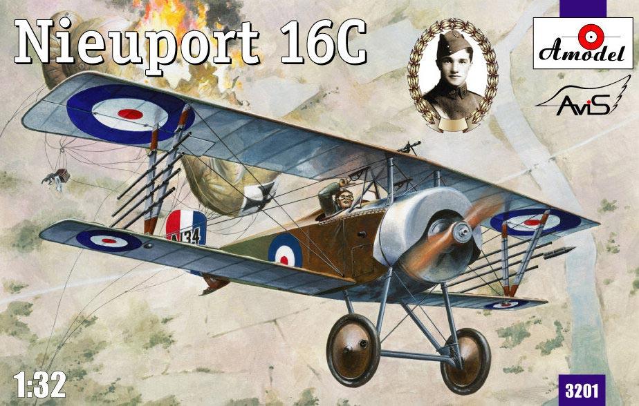 Биплан Nieuport 16C (A134) Amodel 3201