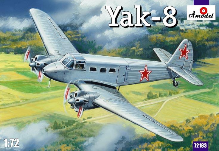 Советский самолет Яковлев Як-8 Amodel 72183