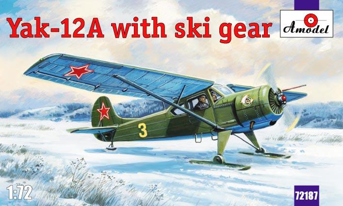 Самолет Яковлев Як-12A с лыжным шасси Amodel 72187