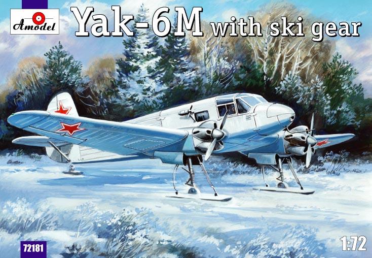 Бомбардировщик Як-6M с лыжным шасси Amodel 72181