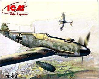 Немецкий истребитель Messerchmitt Bf-109 F4/R3 ICM 48106