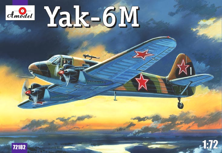 Советский легкий самолет Як-6M Amodel 72182