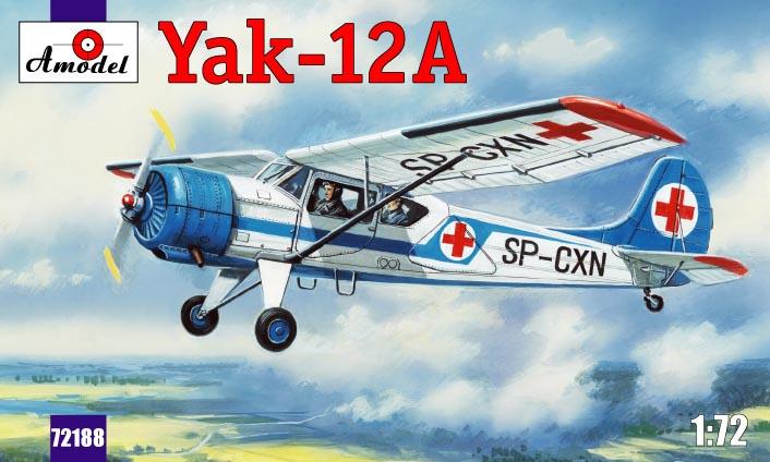 Советский многоцелевой самолет Яковлев Як-12А Amodel 72188