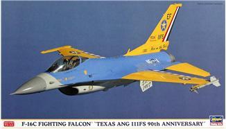 Истребитель Texas Ang 111FS 90th Anniversary F-16C Hasegawa 00899