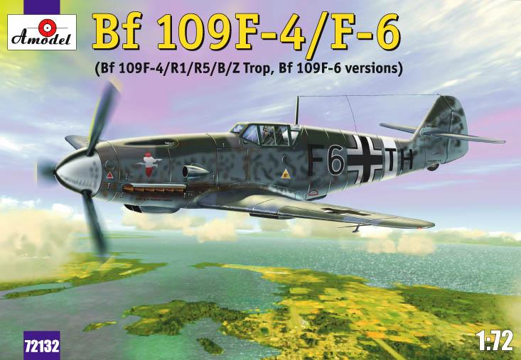 Истребитель Мессершмитт Bf-109F4/F6 Amodel 72132