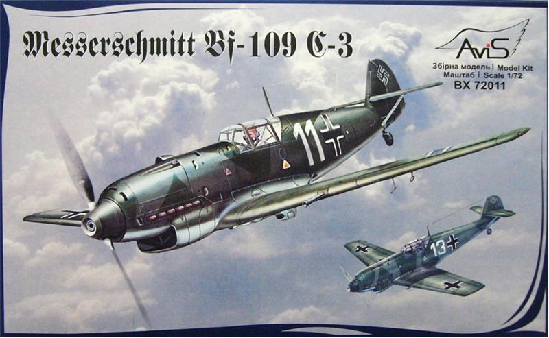 Самолет Мессершмитт Bf.109C-3 Avis 72011