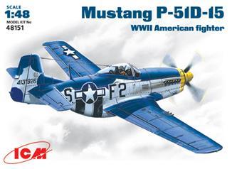 Истребитель Mustang P-51 D - 15 ICM 48151