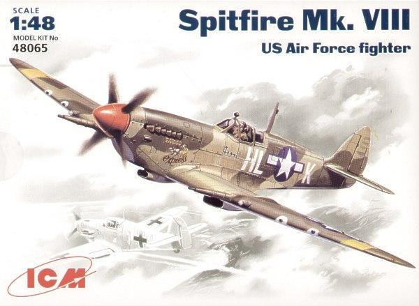 Истребитель Spitfire Mk.VIII ICM 48065