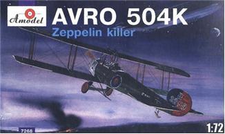 Биплан AVRO-504K Zeppelin Amodel 7268