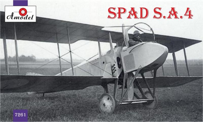 Французский истребитель-биплан SPAD S.A.4 Amodel 7261