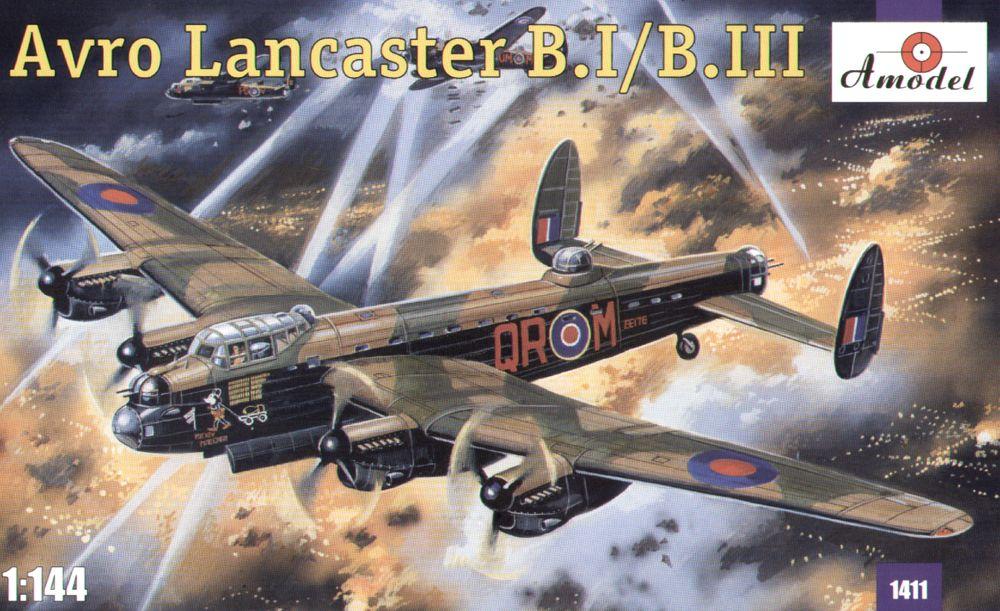 Дальний тяжелый бомбардировщик Avro Lancaster B.I/B.III Amodel 1411