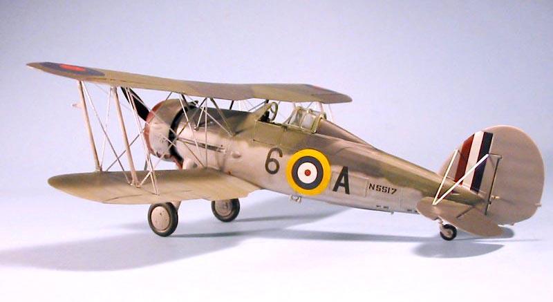 Морской истребитель-биплан Gloster Gladiator Mk.I Roden 405
