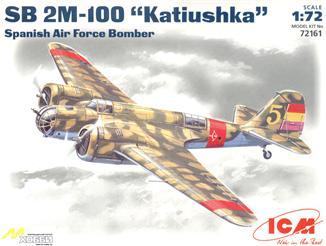 Испанский бомбардировщик СБ 2М-100 ICM 72161
