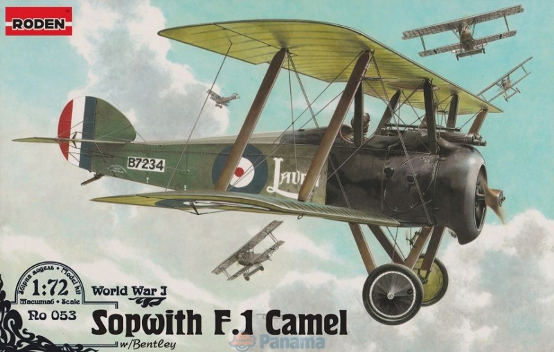 Истребитель Sopwith F.I Camel (w/ Bentley) Roden 053