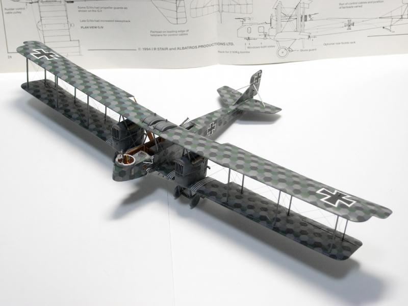 Германский биплан-бомбардировщик Gotha G.IV Roden 011