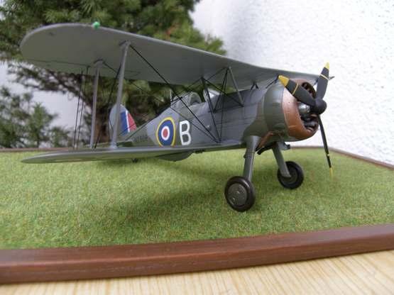 Британский биплан метеорологической разведки и дипломатической службы Gloster Gladiator Roden 438