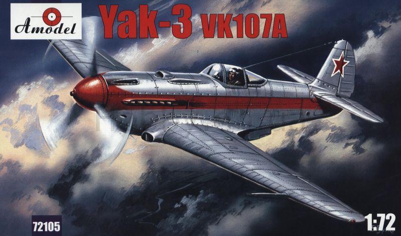 Як-3 с двигателем ВК-107А ( 11,8 см) Amodel 72105