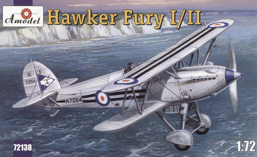 Морской истребитель-биплан Hawker Fury I/II ВВС Великобритании Amodel 72138