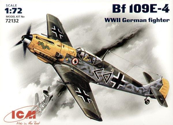 Немецкий истребитель Messerchmitt Bf-109 E4 ICM 72132